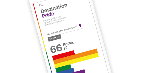 Destination Pride on Mobile Phone