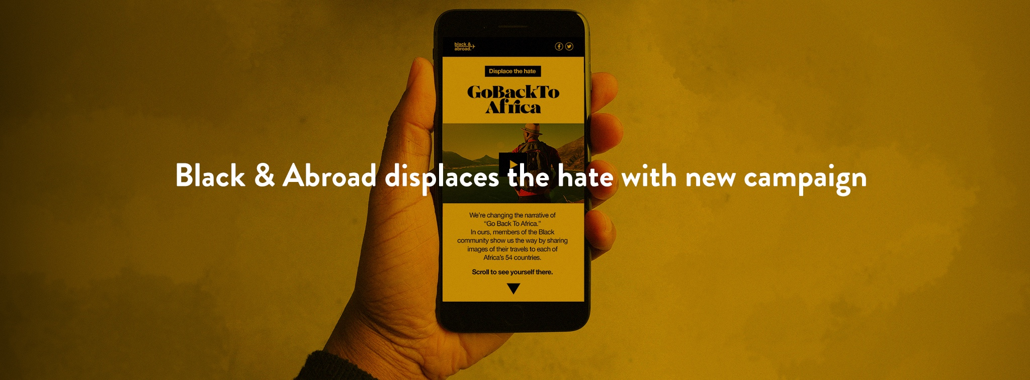 Black & Abroad displaces the hate with new campaign